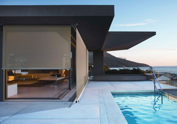 Modern Awnings by pool
